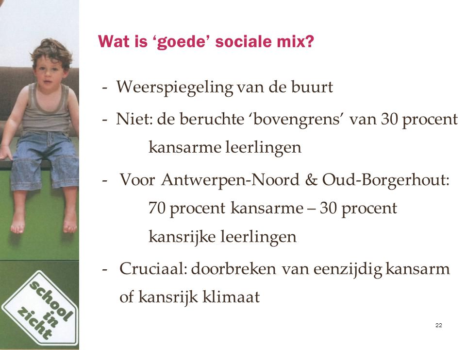 Wat is 'goede' sociale mix.