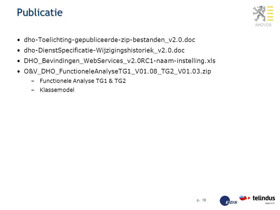 AHOVOS Publicatie dho-Toelichting-gepubliceerde-zip-bestanden_v2.0.doc dho-DienstSpecificatie-Wijzigingshistoriek_v2.0.doc DHO_Bevindingen_WebServices