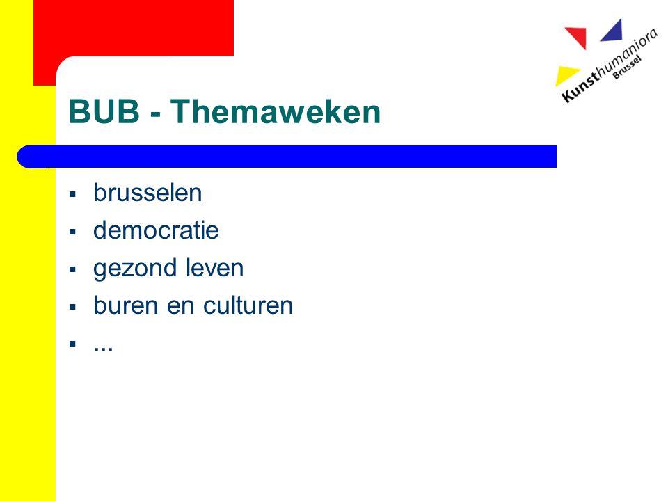 BUB - Themaweken  brusselen  democratie  gezond leven  buren en culturen ...