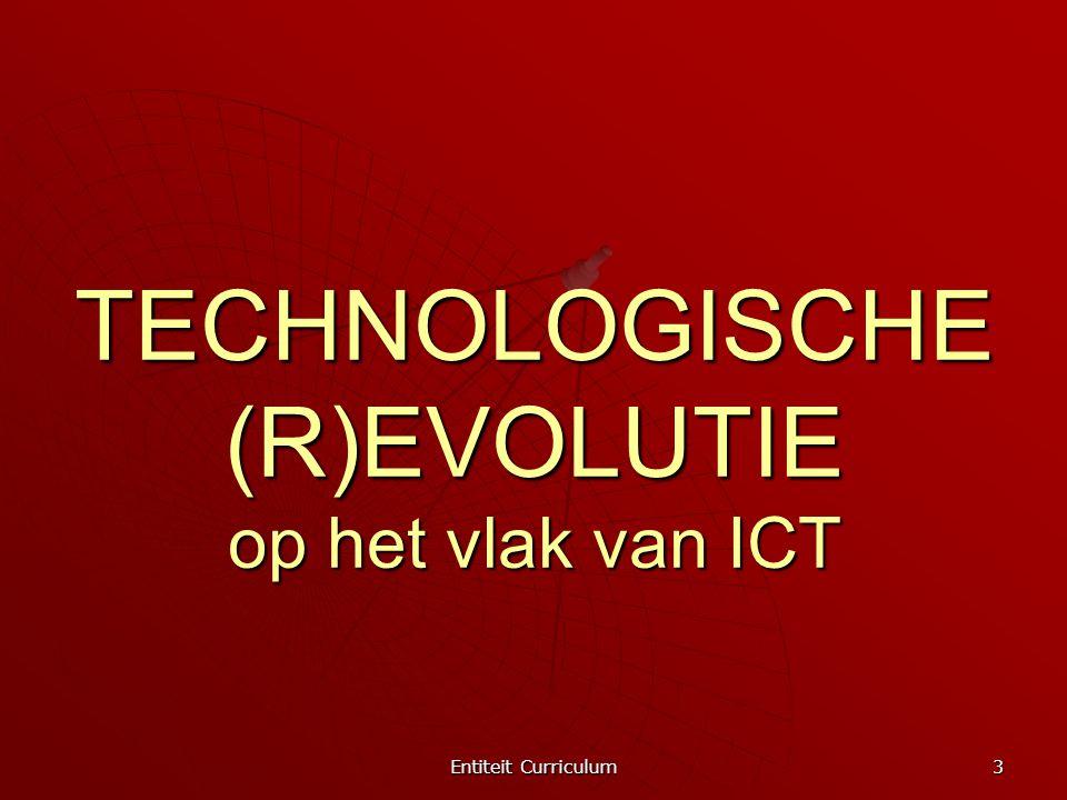 Entiteit Curriculum 4 UITGANGSPUNTEN * de samenleving vraagt om een onderwijs dat rekening houdt met de mogelijkheden van ICT; dat rekening houdt met de mogelijkheden van ICT; * het opnemen van ICT in de eindtermen moet kansenongelijkheid helpen tegengaan; moet kansenongelijkheid helpen tegengaan; * ICT draagt mogelijkheden in zich om het onderwijs- en leerproces te veranderen en te verbeteren; om het onderwijs- en leerproces te veranderen en te verbeteren;