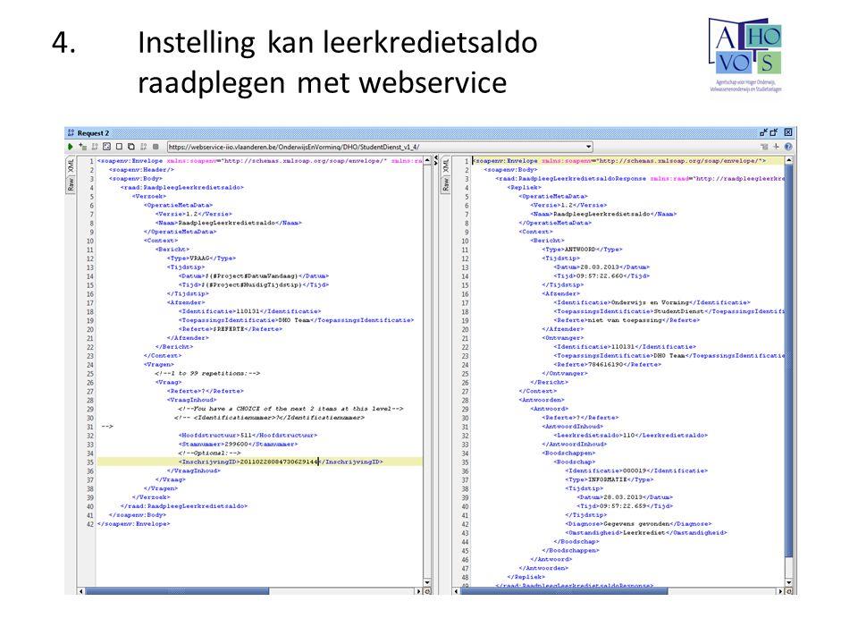 4.Instelling kan leerkredietsaldo raadplegen met webservice
