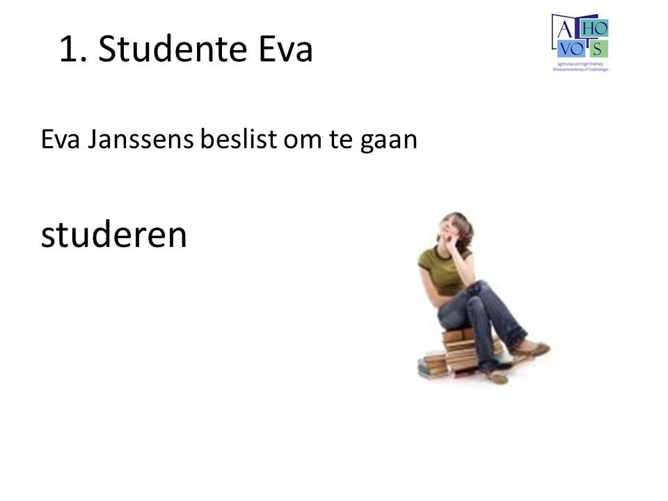1. Studente Eva Eva Janssens beslist om te gaan studeren