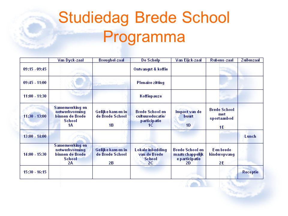 Studiedag Brede School Programma
