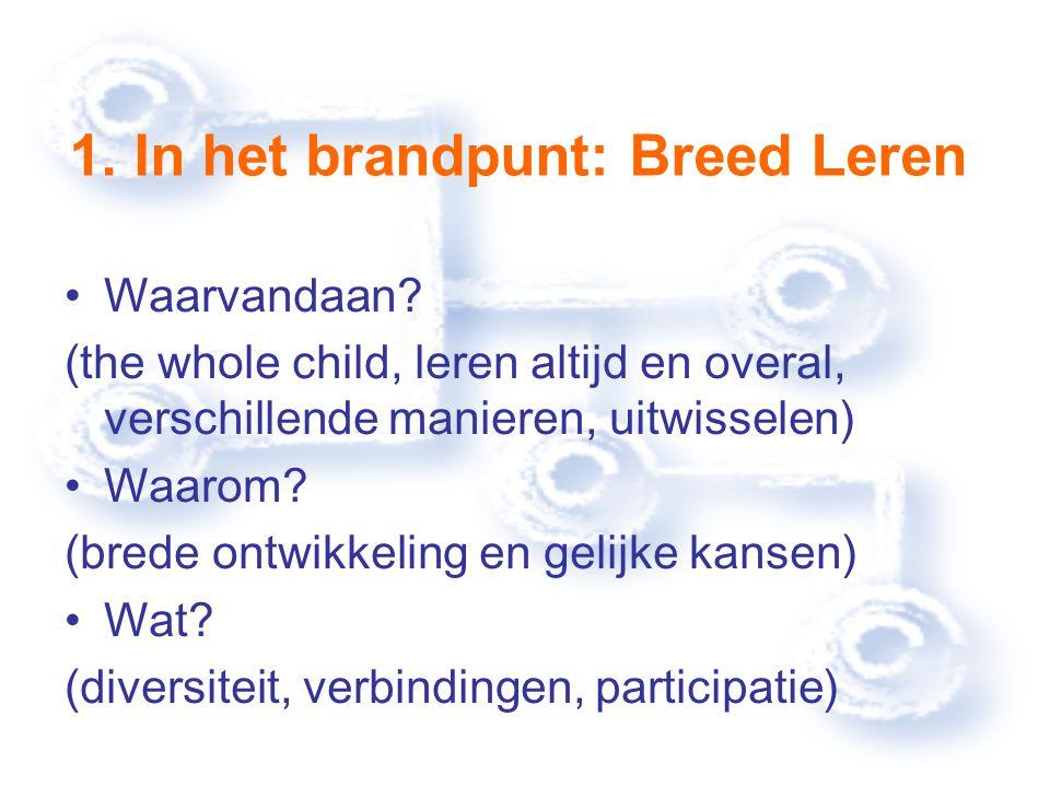 1. In het brandpunt: Breed Leren Waarvandaan.