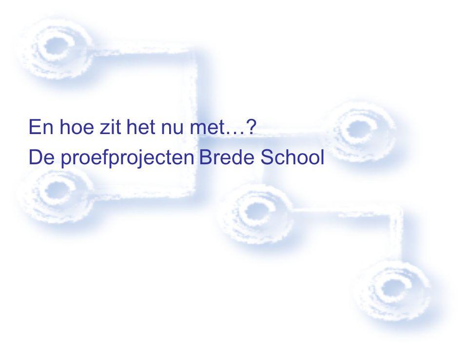 En hoe zit het nu met… De proefprojecten Brede School