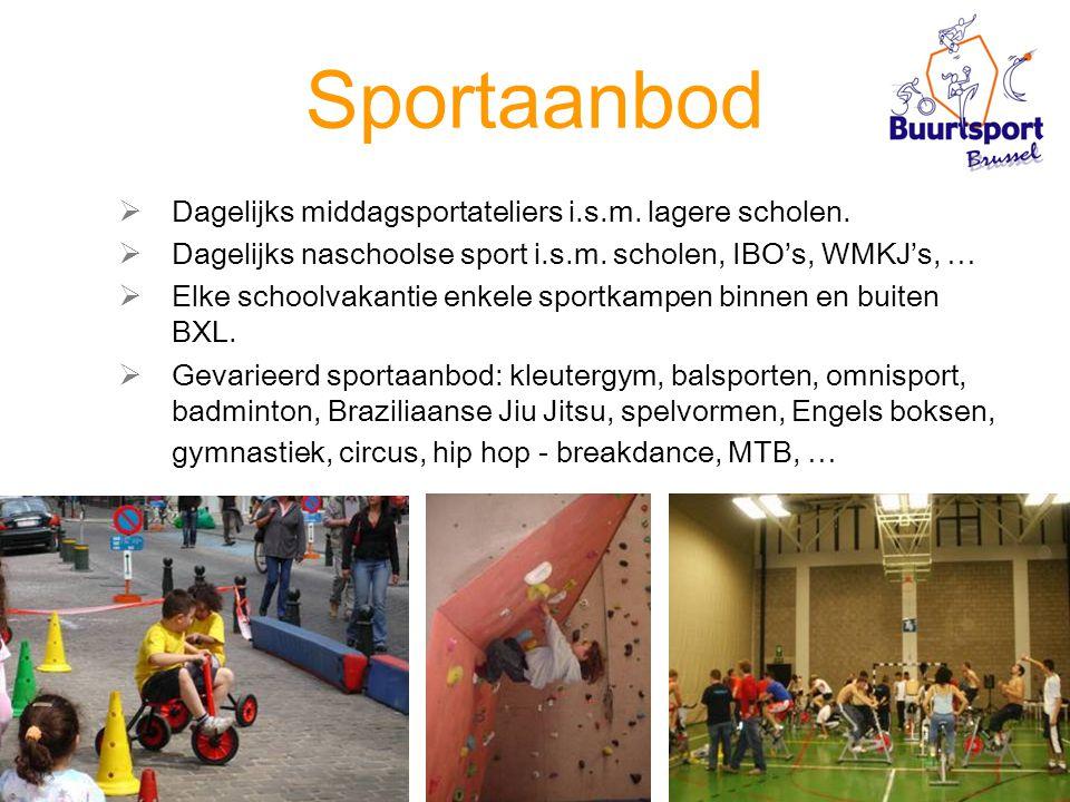 Sportaanbod  Dagelijks middagsportateliers i.s.m.