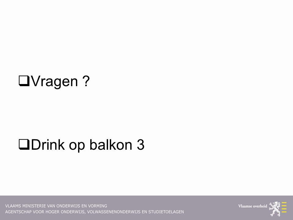  Vragen ?  Drink op balkon 3
