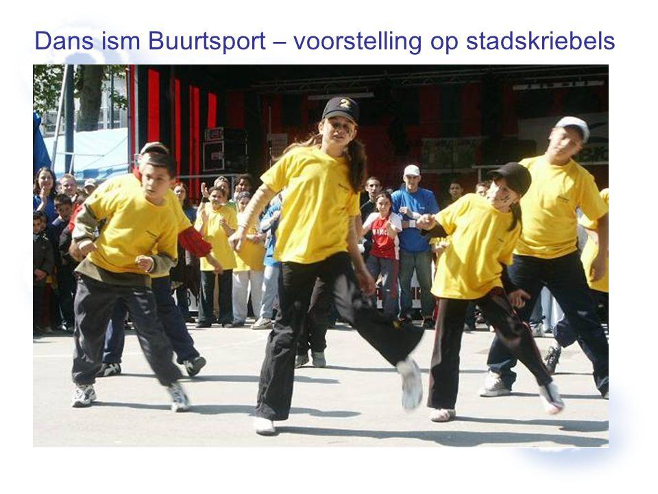 Dans ism Buurtsport – voorstelling op stadskriebels