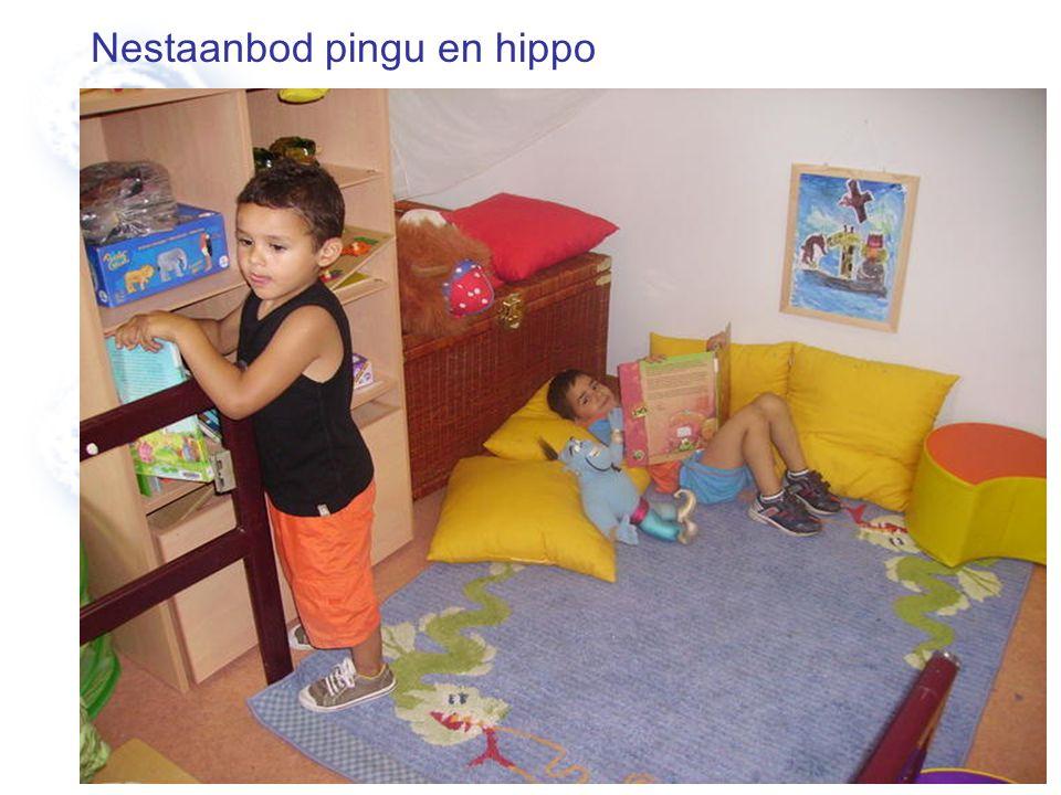 Nestaanbod pingu en hippo