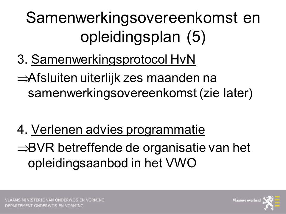 Samenwerkingsovereenkomst en opleidingsplan (5) 3.
