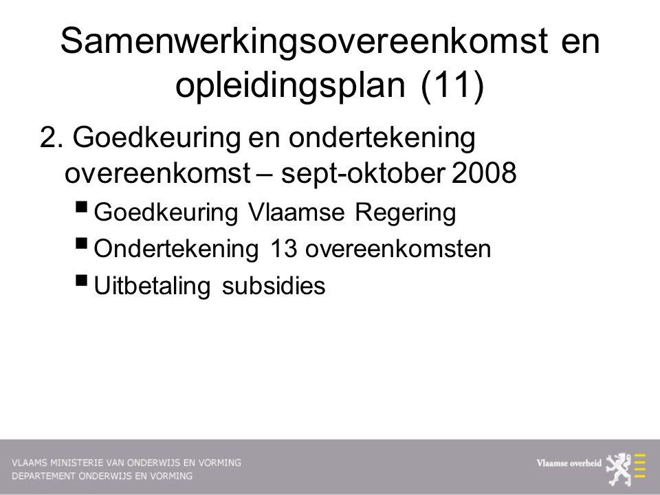 Samenwerkingsovereenkomst en opleidingsplan (11) 2.