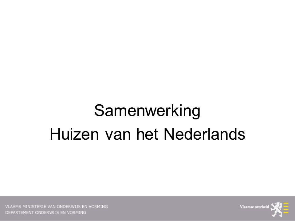 Samenwerking Huizen van het Nederlands
