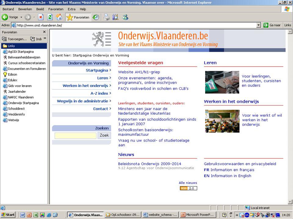 www.agodi.be AgODi opleiding schoolsecretariaten 2009 - 2010 6