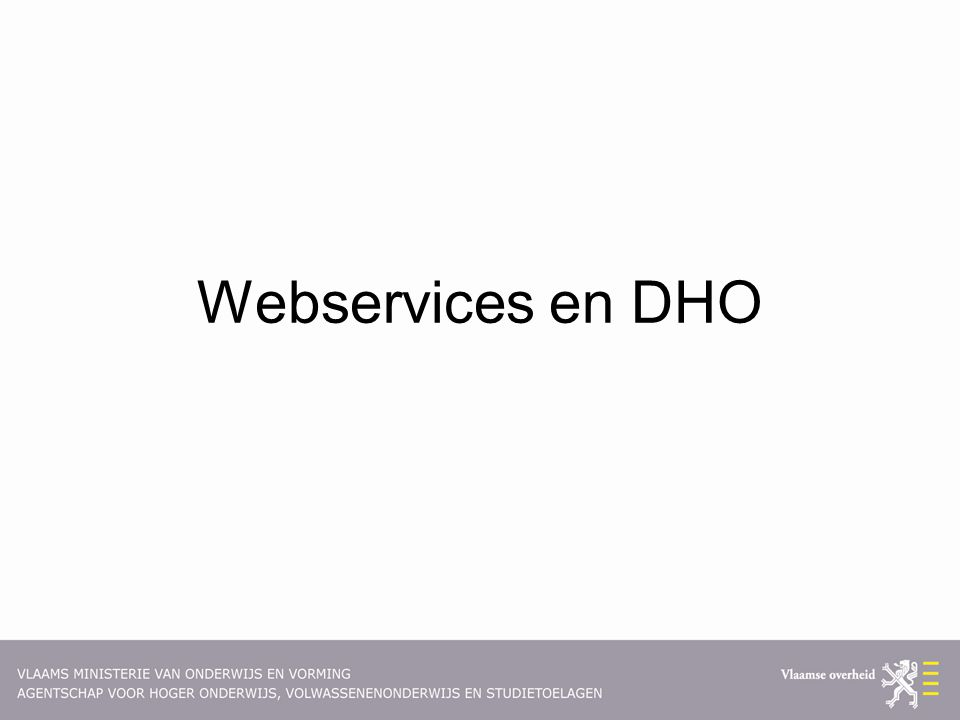 Webservices en DHO