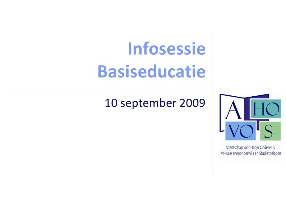 Infosessie Basiseducatie 10 september 2009