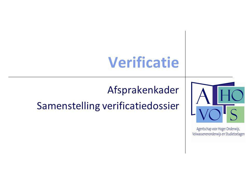 Verificatie Afsprakenkader Samenstelling verificatiedossier