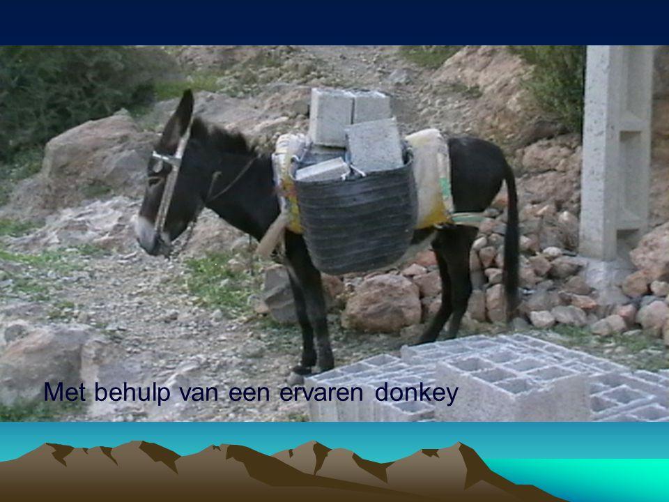 Met behulp van een ervaren donkey
