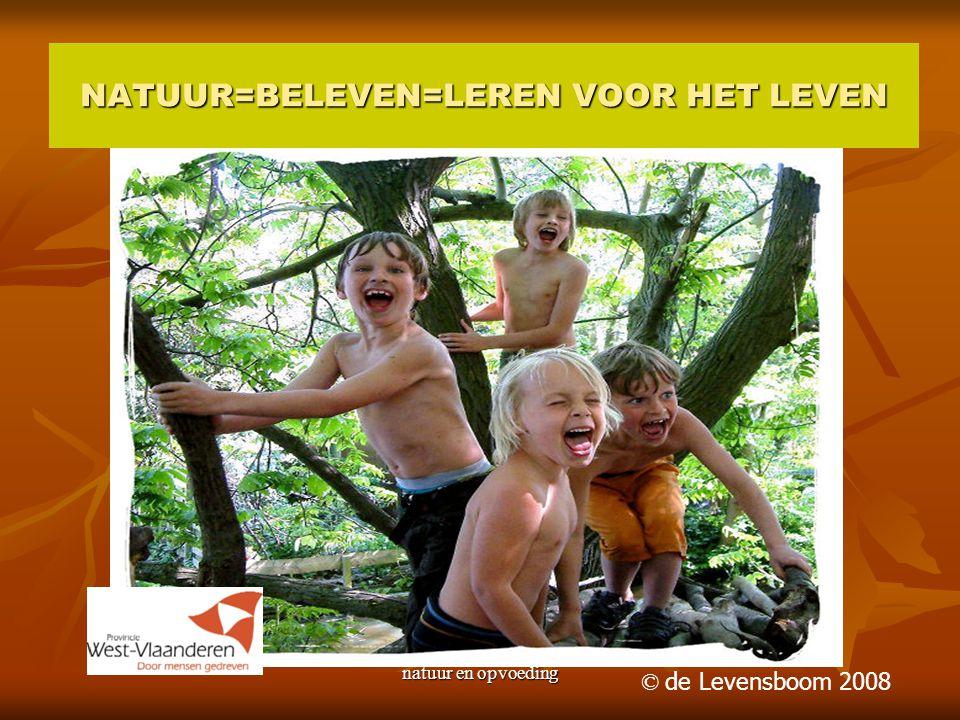 natuur en opvoeding NATUUR=BELEVEN=LEREN VOOR HET LEVEN © de Levensboom 2008