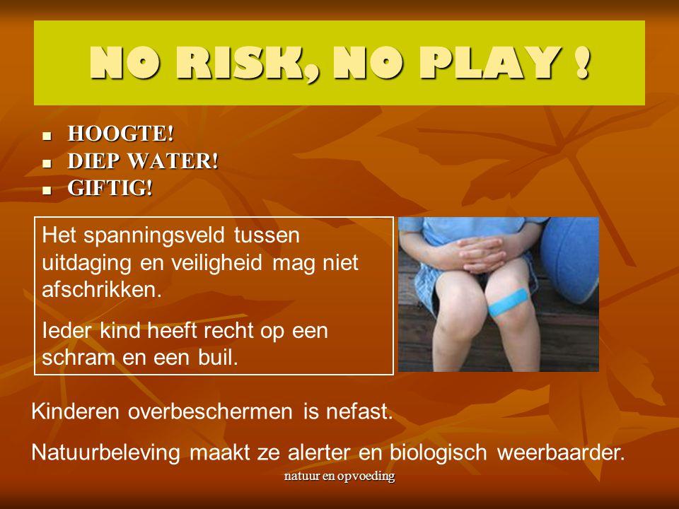 natuur en opvoeding NO RISK, NO PLAY .HOOGTE. HOOGTE.