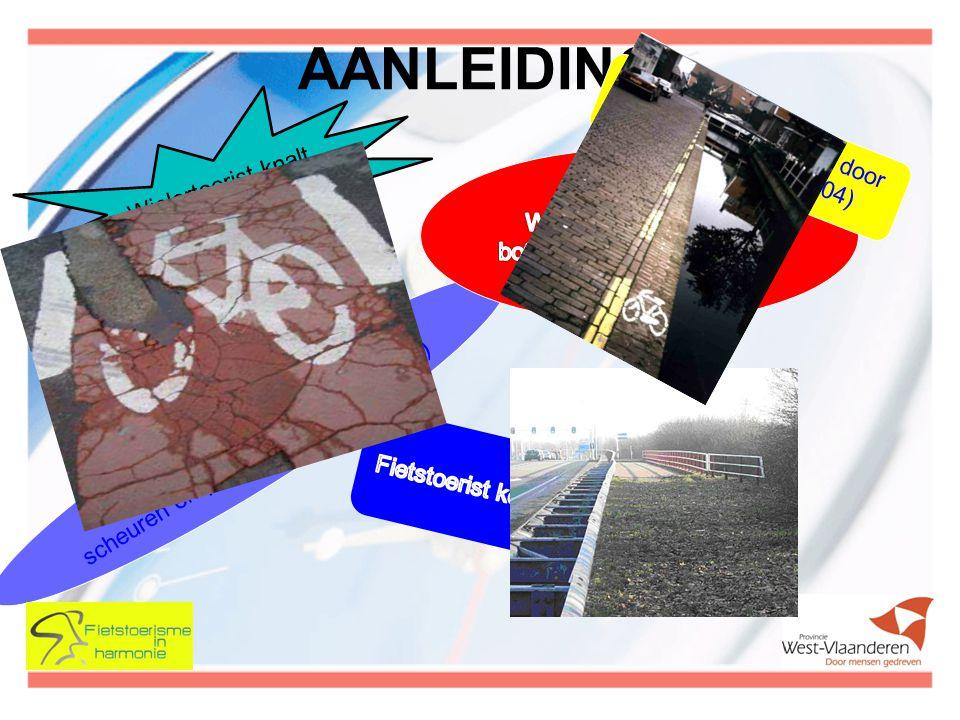 AANLEIDING Fietsers moeten straat op door scheuren en putten in fietspad (30-01) Wielertoerist knalt op wagen (22-01) Zwaargewond na val door put in wegdek (12-04) Geen enkel verkeersregel van tel voor sportieve fietser (06-05) Een fietsbel niet aërodynamisch.