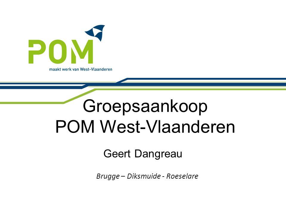 Groepsaankoop POM West-Vlaanderen Brugge – Diksmuide - Roeselare Geert Dangreau