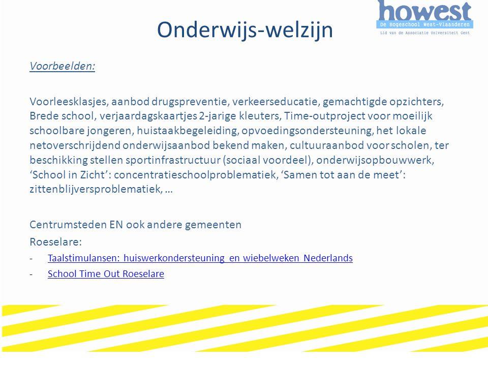 Onderwijs-welzijn 4.Specifieke onderwijsbehoeften 4.1.