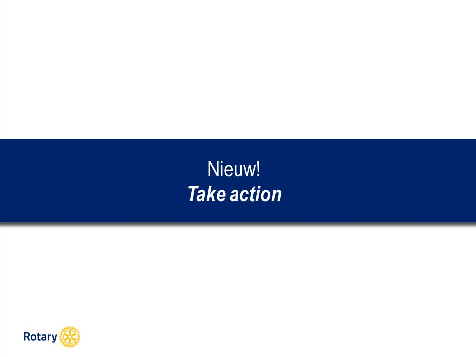 Nieuw! Take action