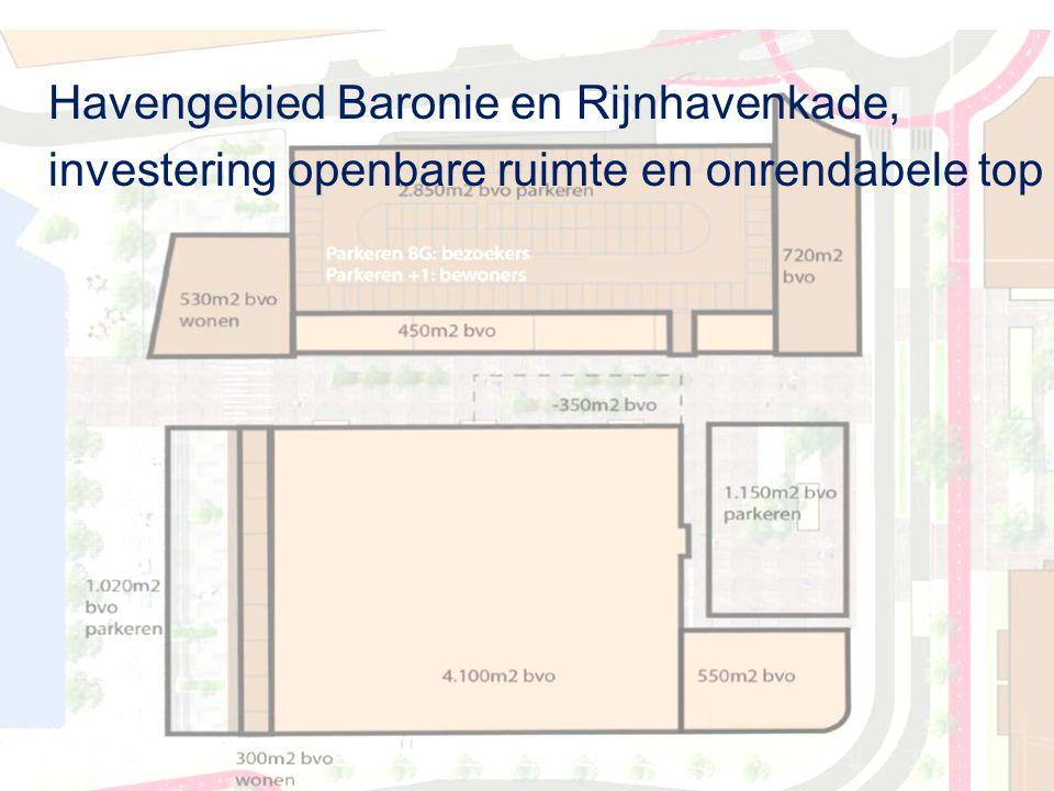 Havengebied Baronie en Rijnhavenkade, investering openbare ruimte en onrendabele top