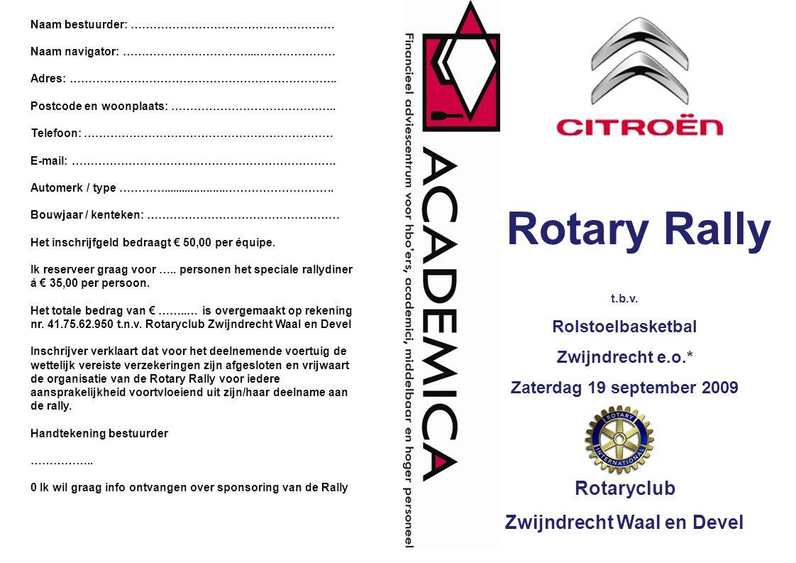 De Rotary Rally is een ontspannen en recreatieve puzzelrit die vooral een appèl doet aan de opmerkzaamheid van de deelnemers en vooral niet aan de paardenkrachten onder de motorkap.