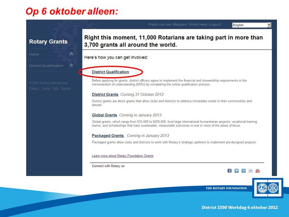 District 1550 Werkdag 6 oktober 2012