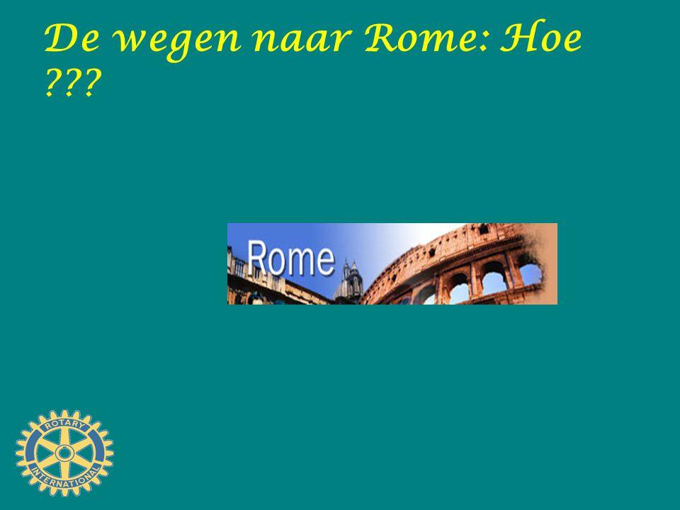 De wegen naar Rome: Hoe ???