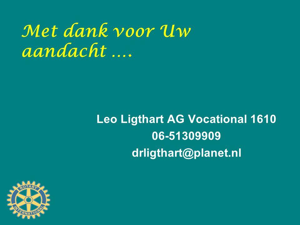 Met dank voor Uw aandacht …. Leo Ligthart AG Vocational 1610 06-51309909 drligthart@planet.nl