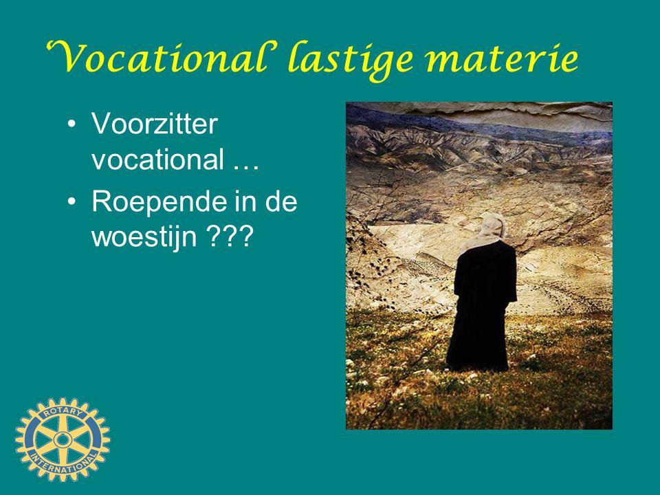 Het woord alleen al … 'Vocational' Komt van het Latijnse werkwoord 'vocare' Het betekent daar: 'roepen', 'oproepen' of 'beroepen'.