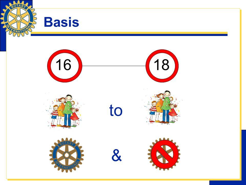 Basis 1618 to &