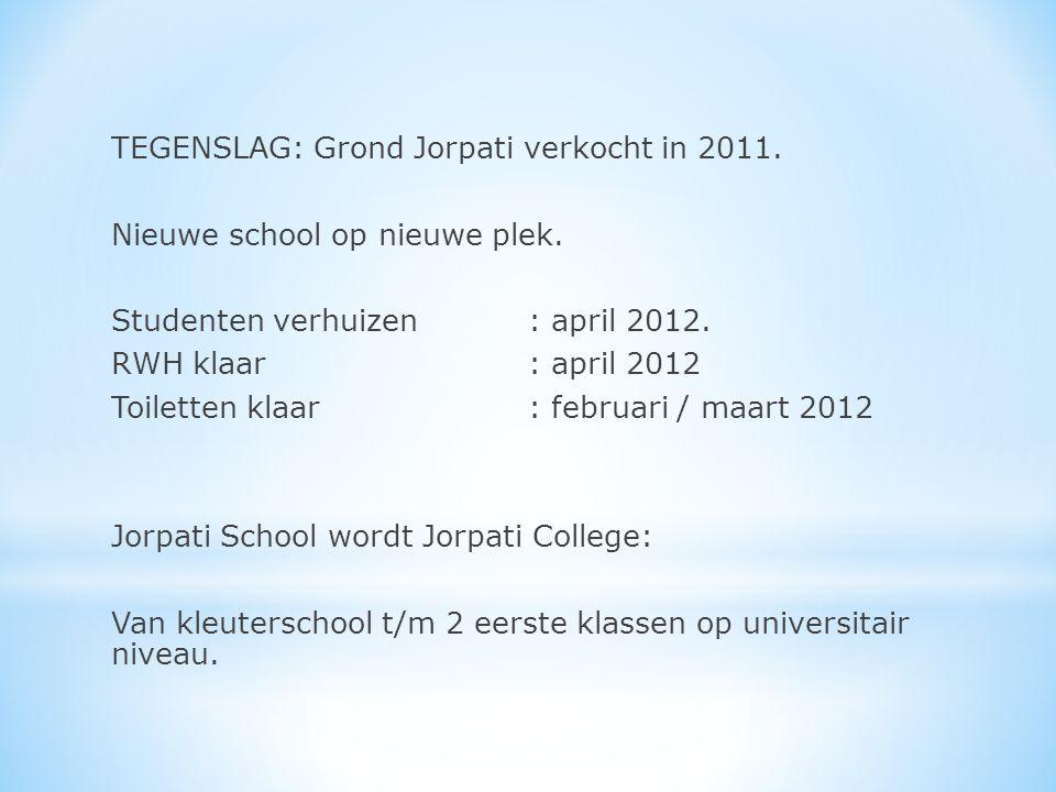 TEGENSLAG: Grond Jorpati verkocht in 2011. Nieuwe school op nieuwe plek.