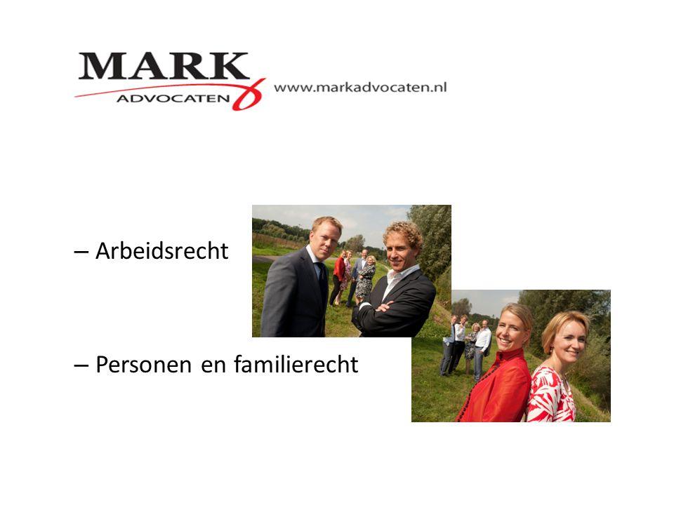 – Arbeidsrecht – Personen en familierecht