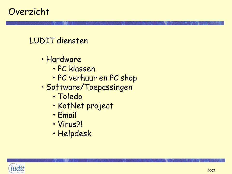 2002 PC shop http://ludit.kuleuven.be/computer/pcshop/ Check regelmatig de website voor promoties Waar.