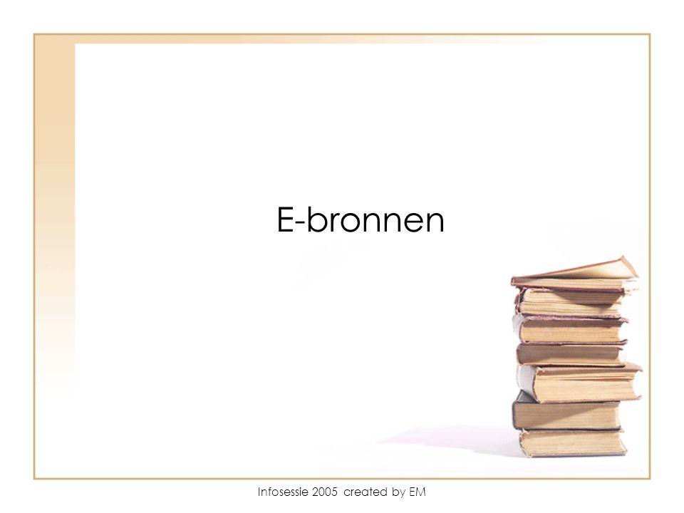 Infosessie 2005 created by EM E-bronnen