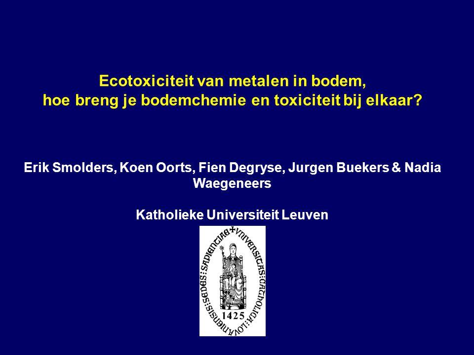 Ecotoxiciteit van metalen in bodem, hoe breng je bodemchemie en toxiciteit bij elkaar.