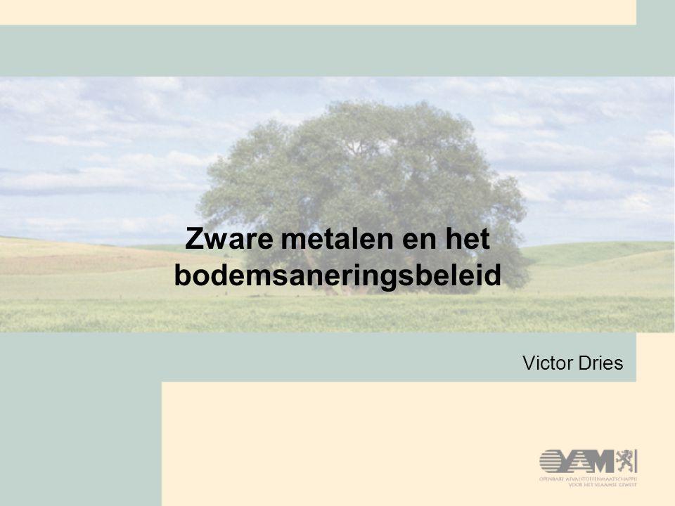 Zware metalen en het bodemsaneringsbeleid Victor Dries