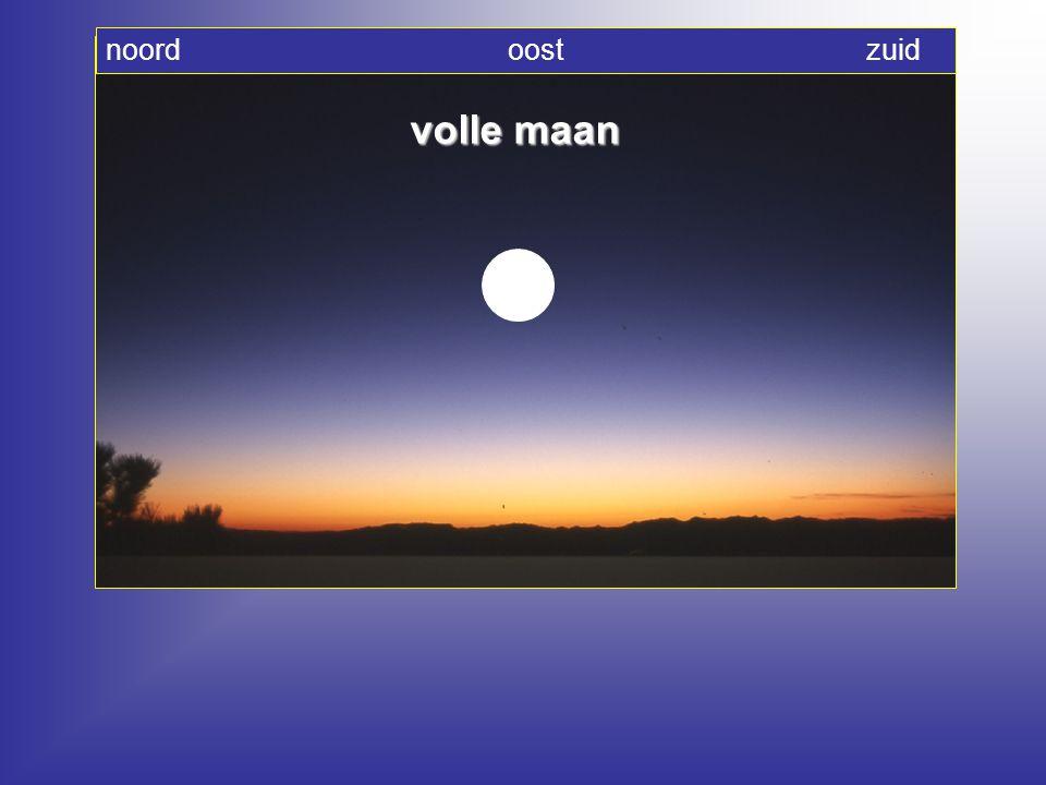 noord oost zuid volle maan