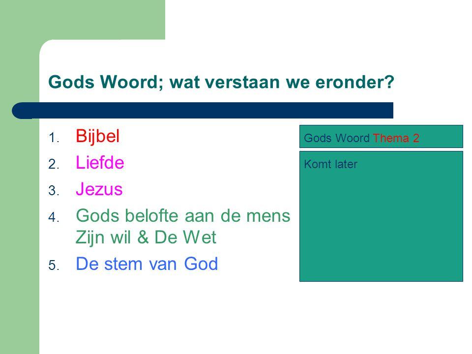 Gods Woord; wat verstaan we eronder. 1. Bijbel 2.