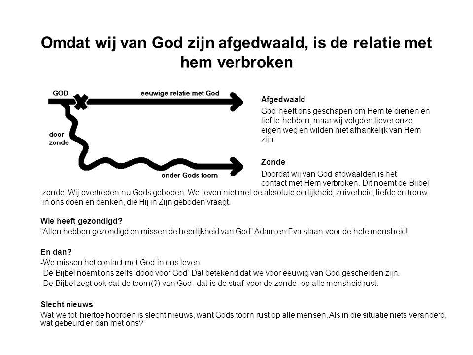 GOD ZELF HEEFT EEN OPLOSSING GEGEVEN VOOR HET PROBLEEM VAN DE ZONDE !!.