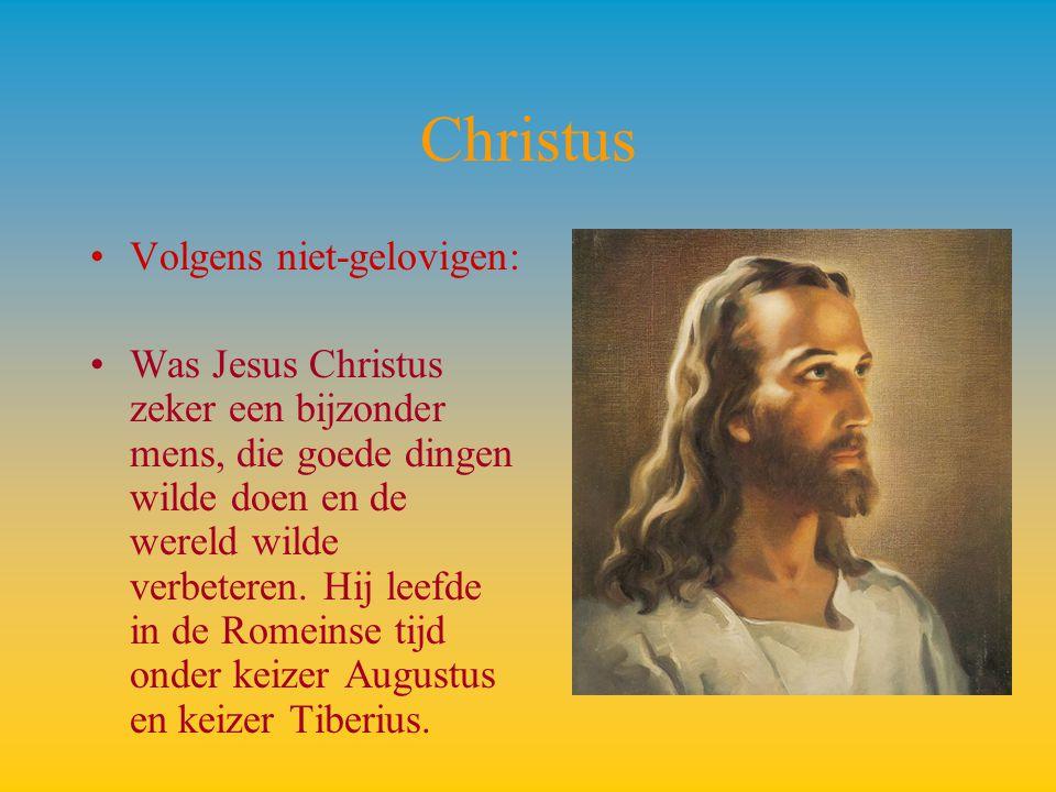Christus Volgens niet-gelovigen: Was Jesus Christus zeker een bijzonder mens, die goede dingen wilde doen en de wereld wilde verbeteren. Hij leefde in