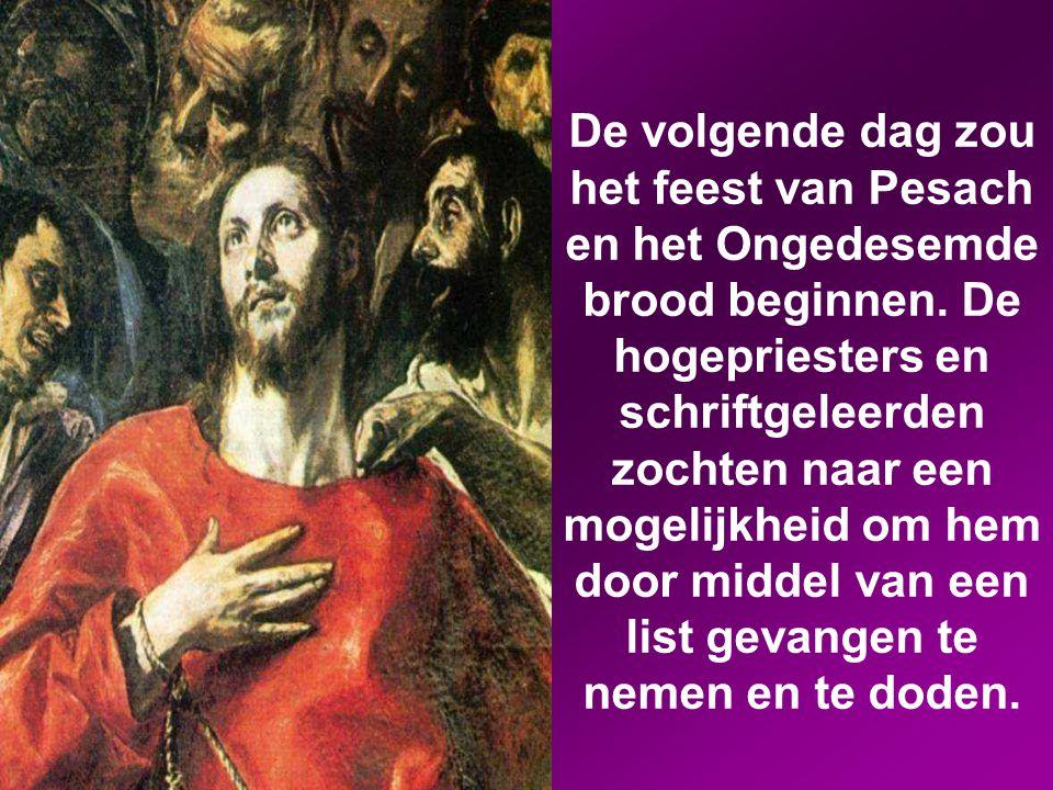 Jezus zei tegen hen: 'U bent er met zwaarden en knuppels op uit getrokken om mij te arresteren, alsof ik een misdadiger ben.