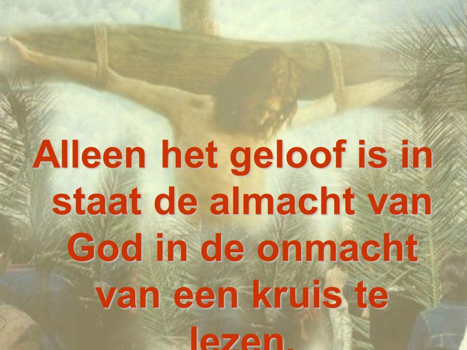 het is de onmacht van de Liefde! Jezus is niet dood omdat hij vermoord is, maar omdat hij «zichzelf overlevert» uit liefde in soevereine vrijheid.