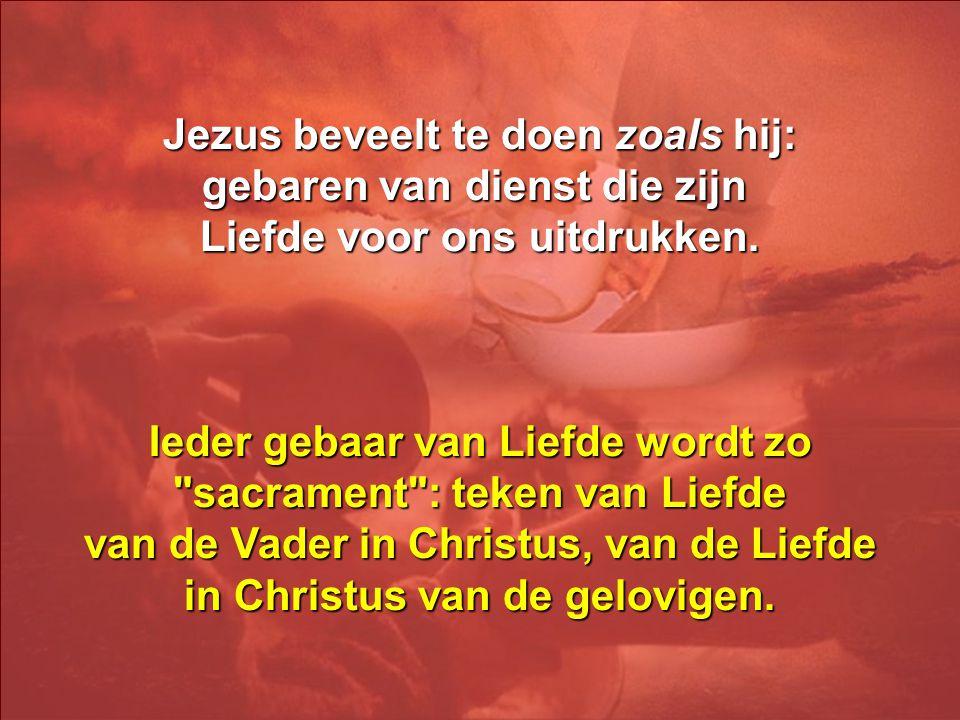 Het Evangelie van Johannes bericht niet over de instelling van de Eucharistie, maar over het gebaar van Jezus die de voeten van de apostelen wast en z