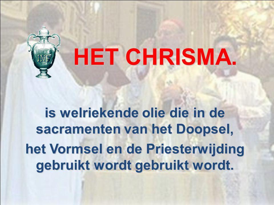 is de Eucharistie die op Witte Donderdagmorgen gevierd wordt (of woensdagavond) waarin alle heilige oliën gewijd worden. DE CHRISMAMIS.