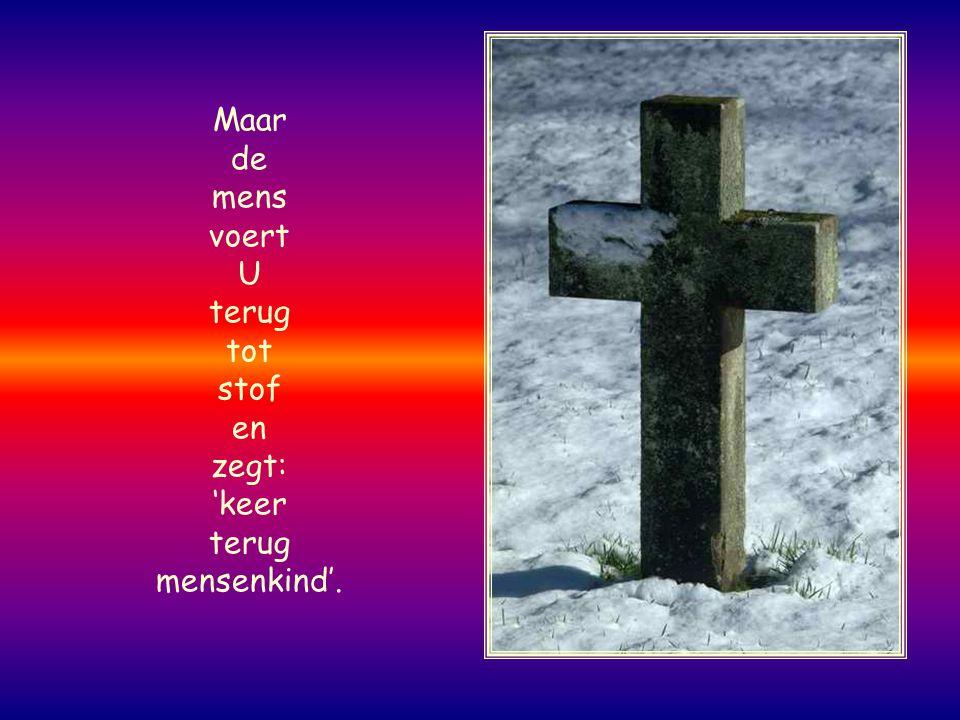 Nog voor de bergen waren geboren, voor wereld en aarde waren gebaard bent U God, van eeuwig tot eeuwig.