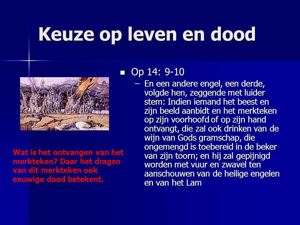 De zegel Gods Op 7: 1-3 Op 7: 1-3 –Daarna zag ik vier engelen staan aan de vier hoeken der aarde, die de vier winden der aarde vasthielden, opdat er geen wind zou waaien over de aarde, of over de zee, of over enige boom.